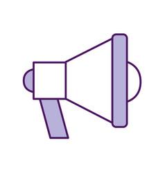 Megaphone sound isolated icon vector