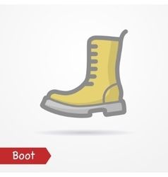 Military boot icon vector image vector image