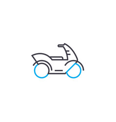 Motorcycle thin line stroke icon vector