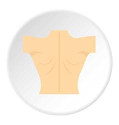 Naked human back icon circle vector