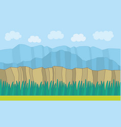 nature landscape background vector image