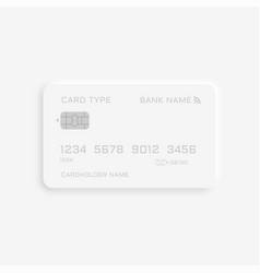 Neumorphism style credit card mockup design vector