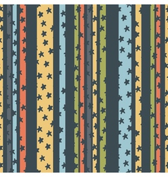 Pattern strips stars vector