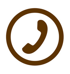 phone thin line icon phone icon in circle vector image