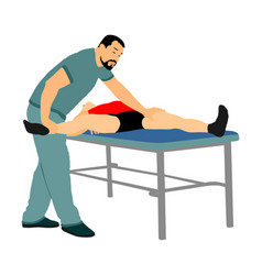 Physiotherapist and patient rehabilitation vector