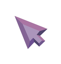 Polygonal Arrow Icon with geometrical figures vector