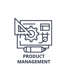 product management line icon concept product vector image