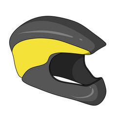 protective helmet for cyclists protection for the vector image