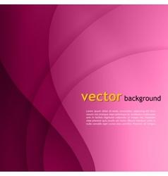 Purple smooth twist light lines background vector image