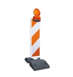 Road Warning Beacon vector image