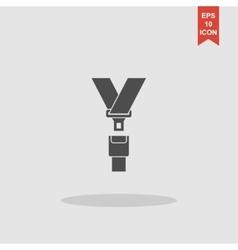 safe belt Modern design flat style vector image