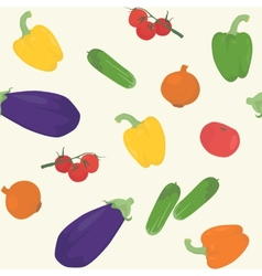 Seamless pattern with various vegetables vector image