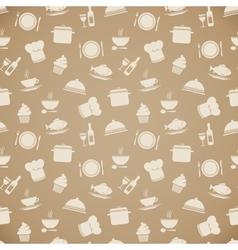 Seamless restaurant menu pattern background vector