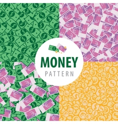 Set of patterns with pot of money vector