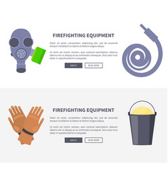 set of special isolated fire protection equipment vector image