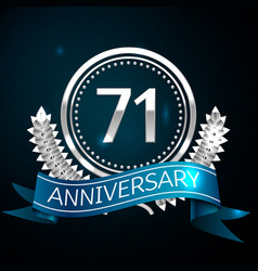 seventy one years anniversary celebration design vector image