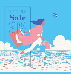 spring sale banner sale poster sale flyer 30 vector image
