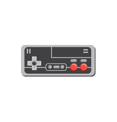 Square video game controller or joystick icon flat vector