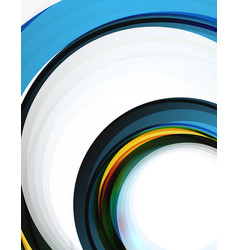 Swirl and circles futuristic geometrical abstract vector