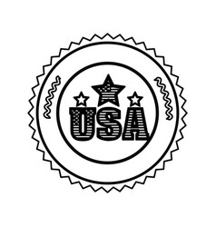 symbol american seal sign icon vector image