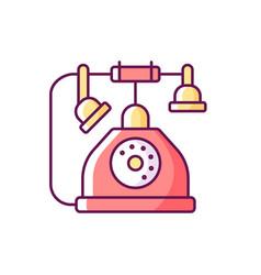 Telephone rgb color icon vector
