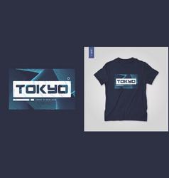 tokyo japan abstract geometric t-shirt vector image