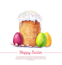Watercolor easter cake vector