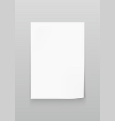 White sheet of paper a4 size vector