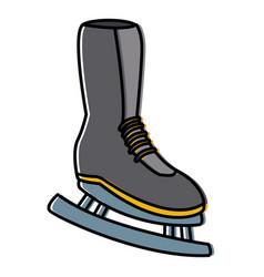 women ice skate vector image