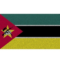 Flags Mozambique on denim texture vector image vector image