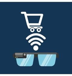 glasses technology online shop application media vector image