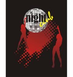 Nightclub poster vector