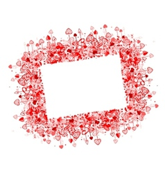 Valentine frame design place for your photo or vector image vector image