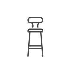 bar stool line icon vector image vector image