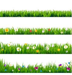 big set flowers frame vector image vector image