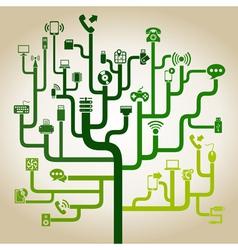 Electronics a labyrinth vector