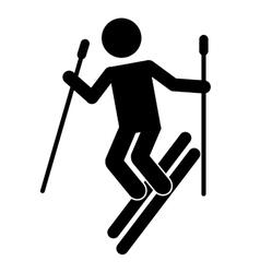 snow ski isolated icon design vector image vector image