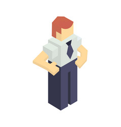 warehouse manager isometric icon vector image vector image