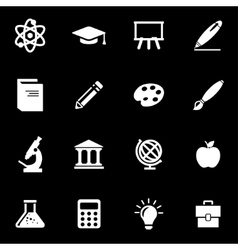 white education icon set vector image vector image