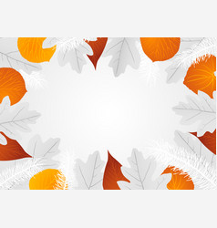 decorative leaves background vector image vector image