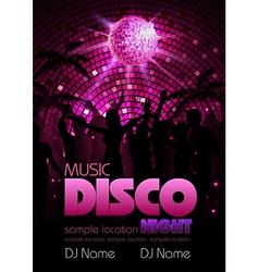 Disco background Disco poste vector image vector image
