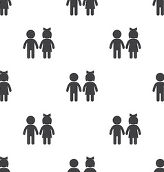 girl and boy seamless pattern vector image vector image