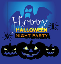 happy halloween night party holiday festival vector image vector image