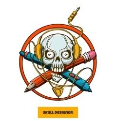 Skull Designer vector image vector image