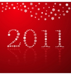 snowflakes happy new year red vector image