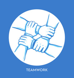 teamwork concept stack of business hands vector image