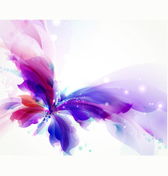 Abstract butterfly with blue purple and cyan vector