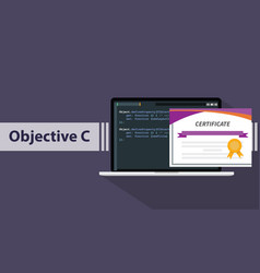 an objective c programming online learning vector image