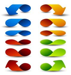 Arrow design elements vector