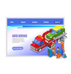 auto service page design vector image